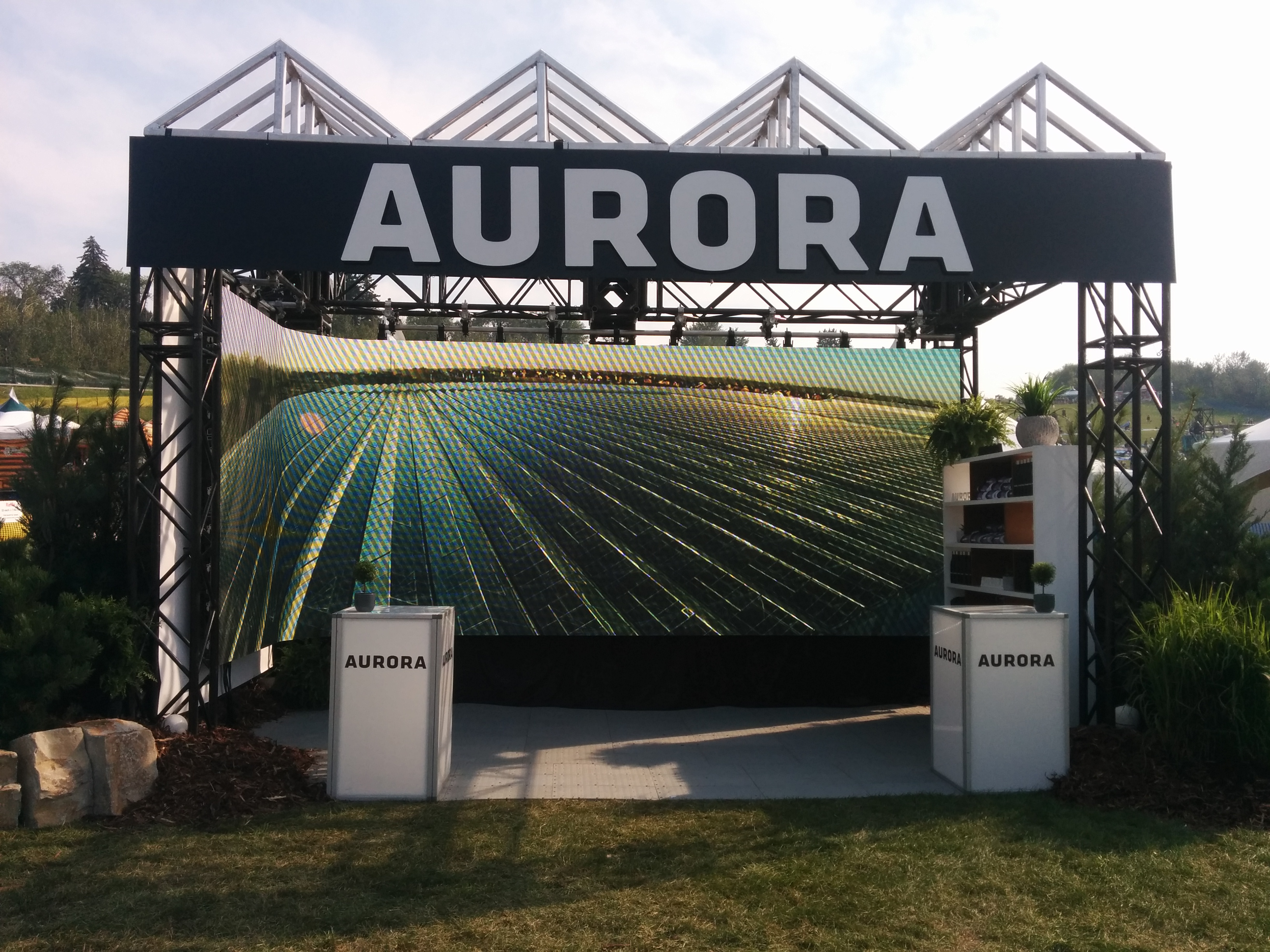 Aurora booth with LED backdrop