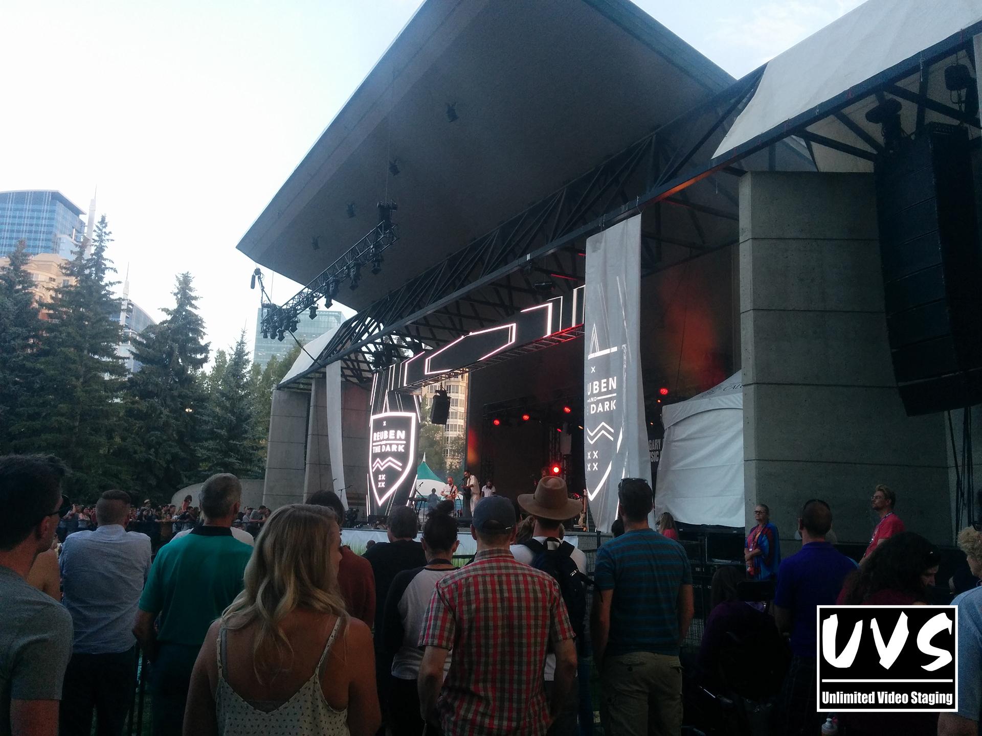 Onstage LED @ The Calgary Folk Fest