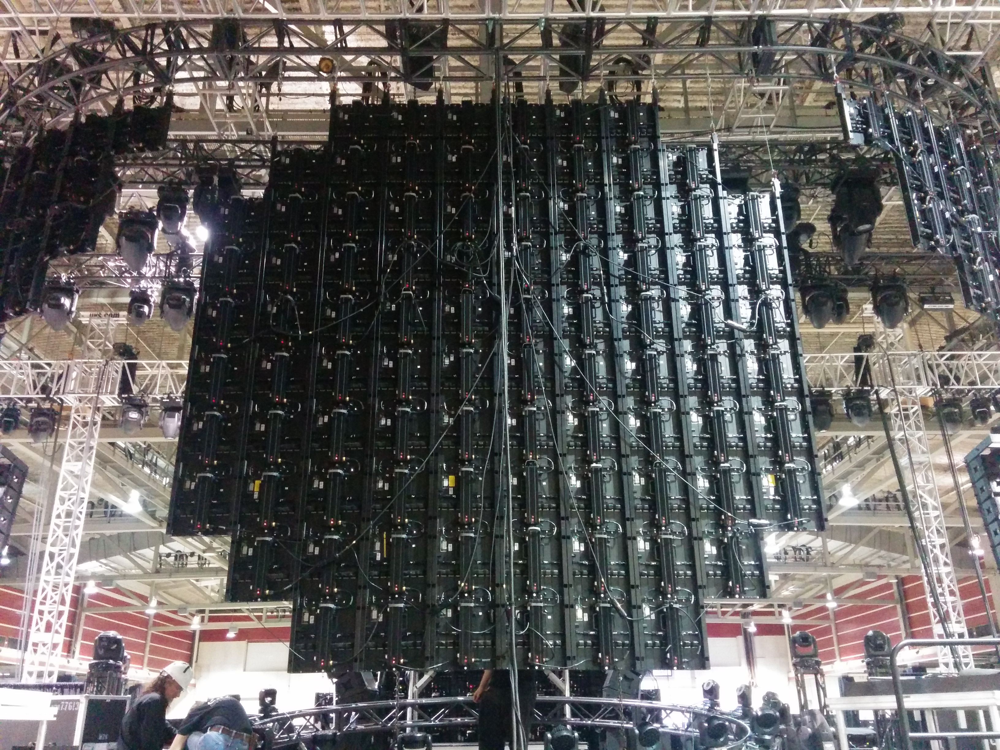 Behind the onstage LED @ Pure