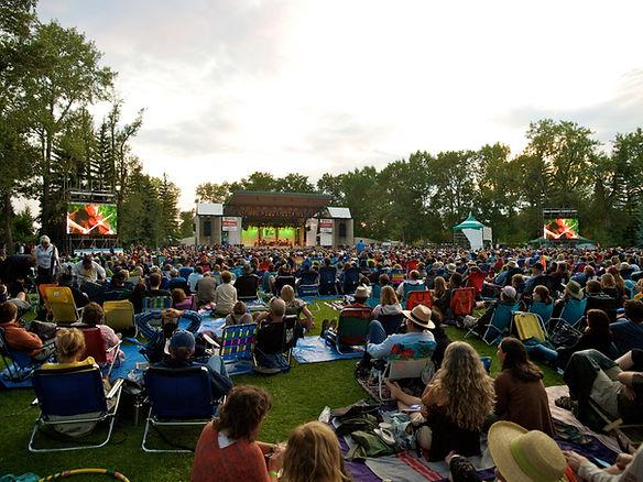 IMAG LED screens at The Calgary Folk Music Festival