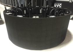 Full 360 degree curvable LED