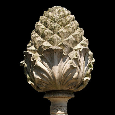 Echinus Hand Carved Pineapple Finial