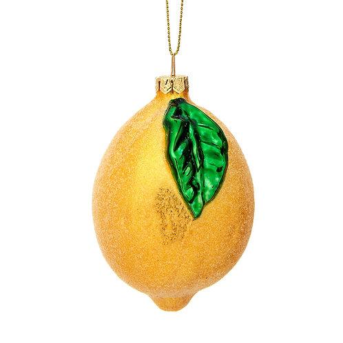 Sass & Belle Shimmering Lemon Shaped Bauble