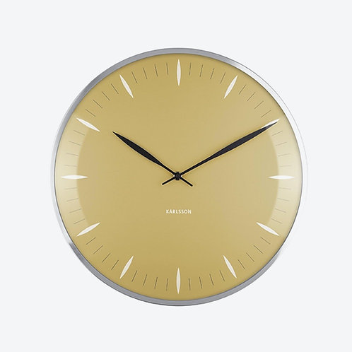 Karlsson Leaf Wall Clock in Mustard Yellow