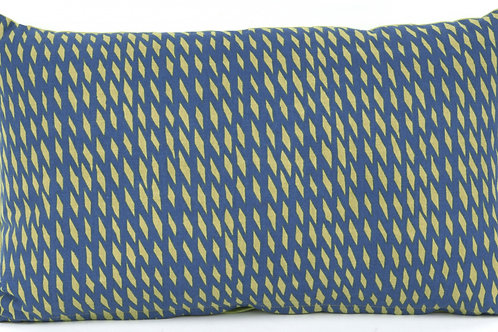 Present Time Blue/Green 'Tuned Mesh' Cushion