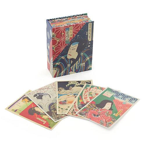 Japanese Wood Blocks: 100 Postcards