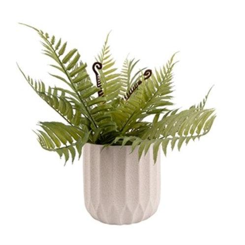 Present Time Cement Stripe Plant Pot