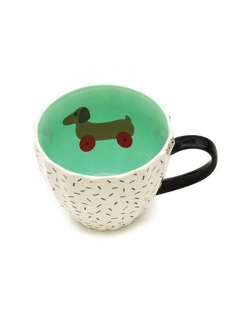 Tatty Devine Dog on Wheels Mug