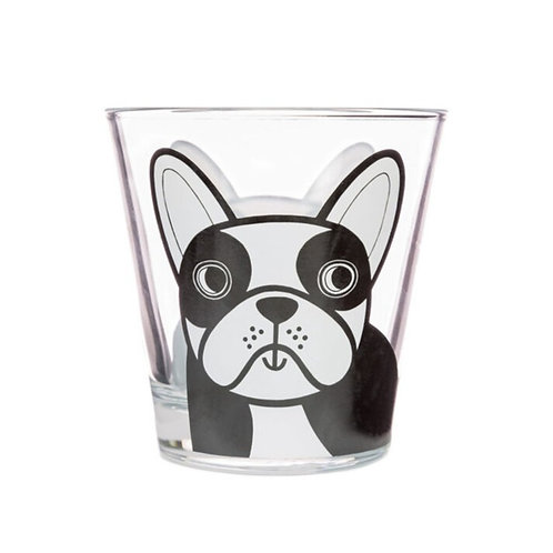 Jane Foster French Dog Glass Tumbler