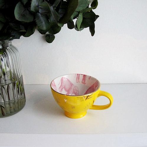 Heritage and Harlequin Yellow Elephant Mug