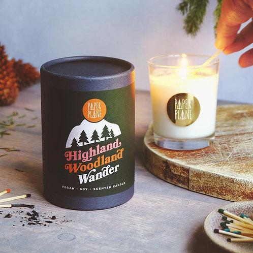 Paper Plane Highland Woodland Wander Vegan Soy Candle