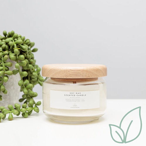 Balance and renew soy wax scented candle