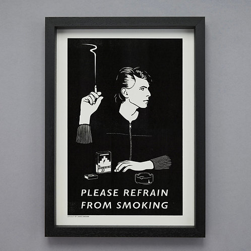 Refrain from smoking poster