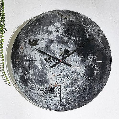 Karlsson Moon Glass Wall Clock 60cm