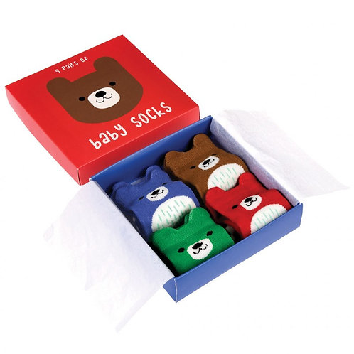 Bear Baby Socks - Set of 4