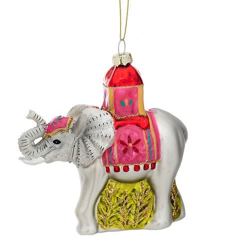 Sass & Belle Glitter Elephant Bauble