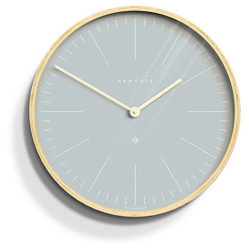 Newgate Mr Clarke Pale Wood Pill Blue Dial Wall Clock