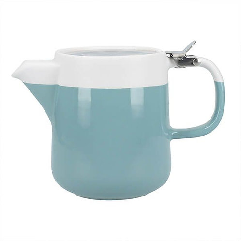 La Cafetiere Barcelona 2 Cup Teapot with Filter Retro Blue