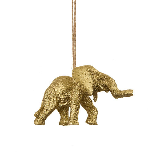 Sass & Belle Luxe Gold Elephant Decoration