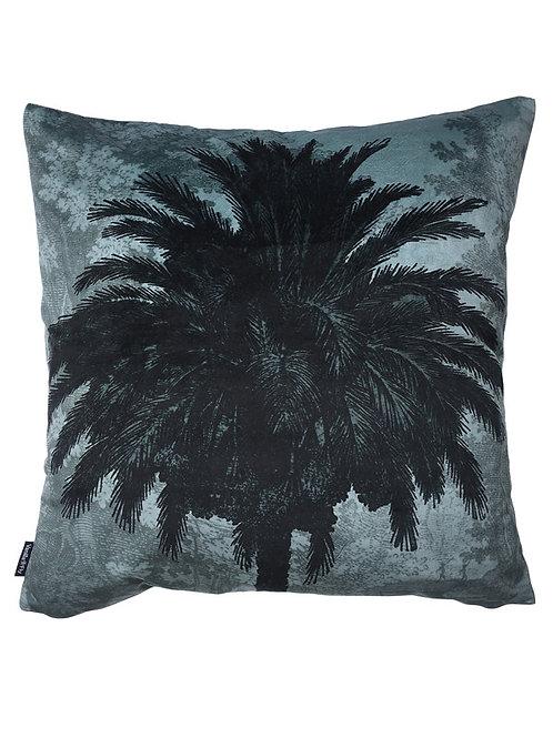 Vanilla Fly Blue Palm Velvet Cushion