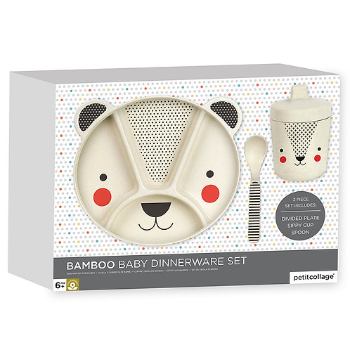 Petit Collage Bamboo Baby Dinnerware Set