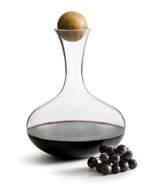 Sagaform Nature Wine Carafe with Oak Stopper