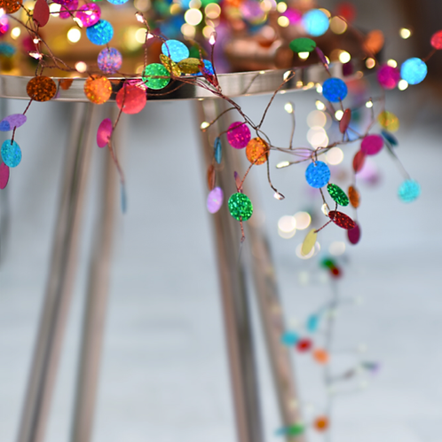 Colourful Confetti Fairy Lights