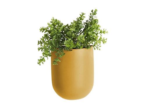 Present Time Ceramic Ochre Wall Vase