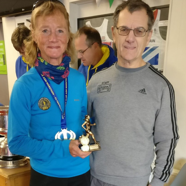 AS 1st lady with Roger Biggs 100MC AGM m