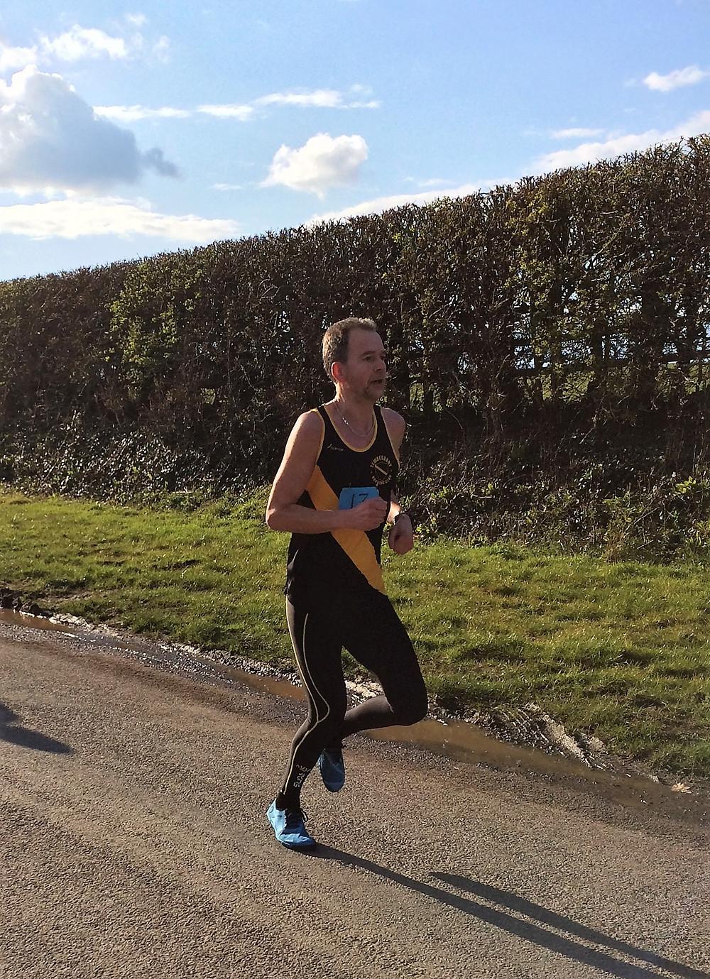 Paul Booth racing well.
