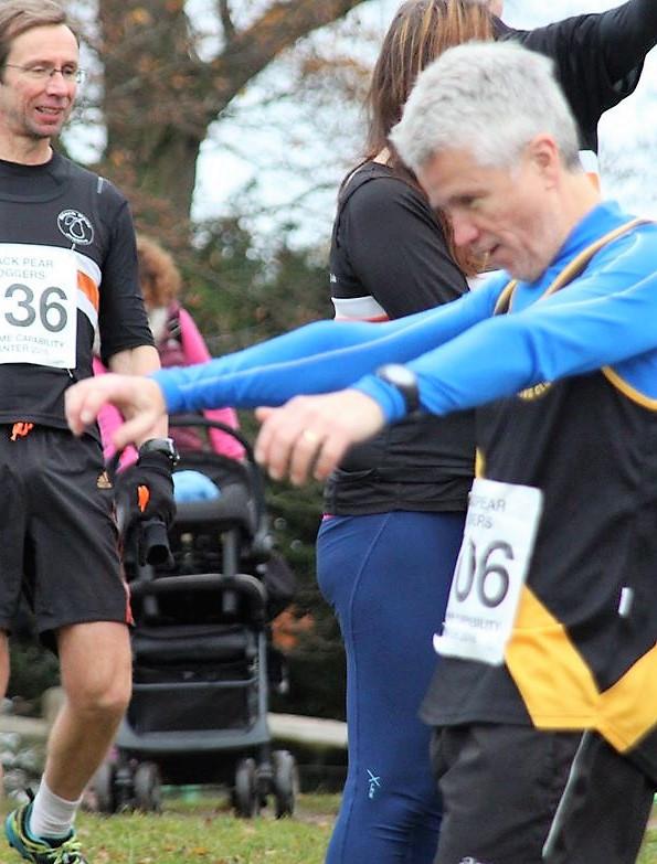 Gary Duxbury flexing his wings.