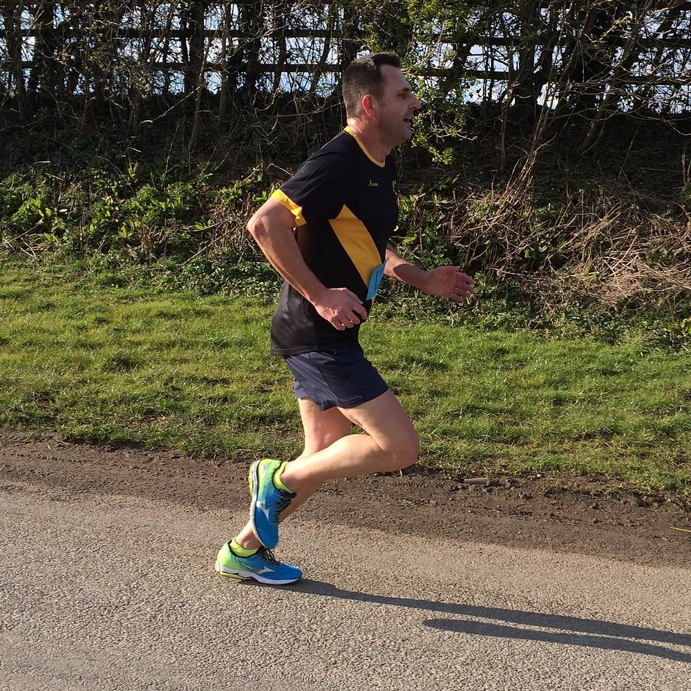 Alec Vincent running strong.