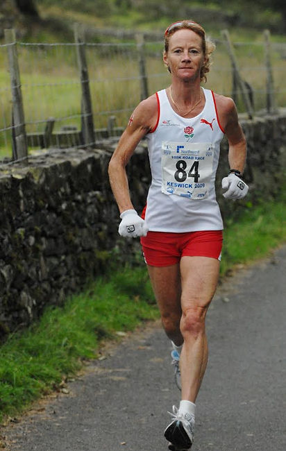 Angie at the Commonwealth Championships 100km Road Race in Keswick