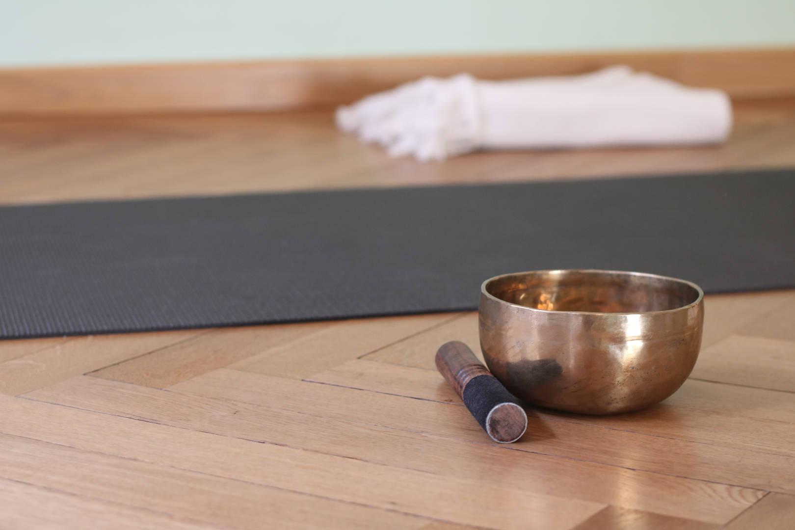 Yoga Matte und Utensilien