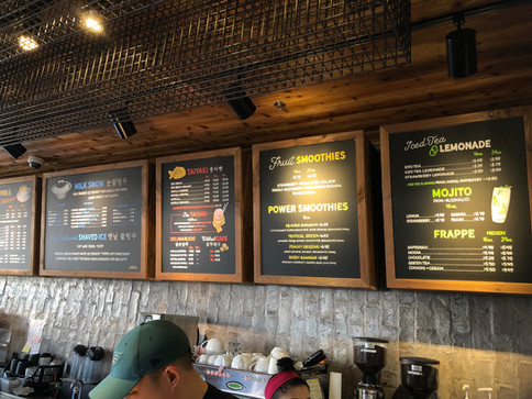 Cafe Clover Menu Boards