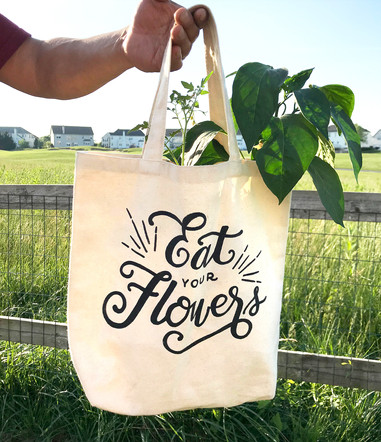 Lettered and Screen Printed Tote Bag
