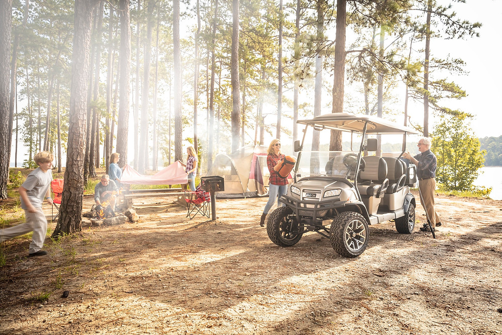 Camping, golf cart use