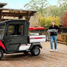 Red Yamaha Umax Cab