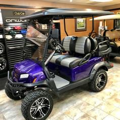 Custom Purple Club Car Onward Golf Car