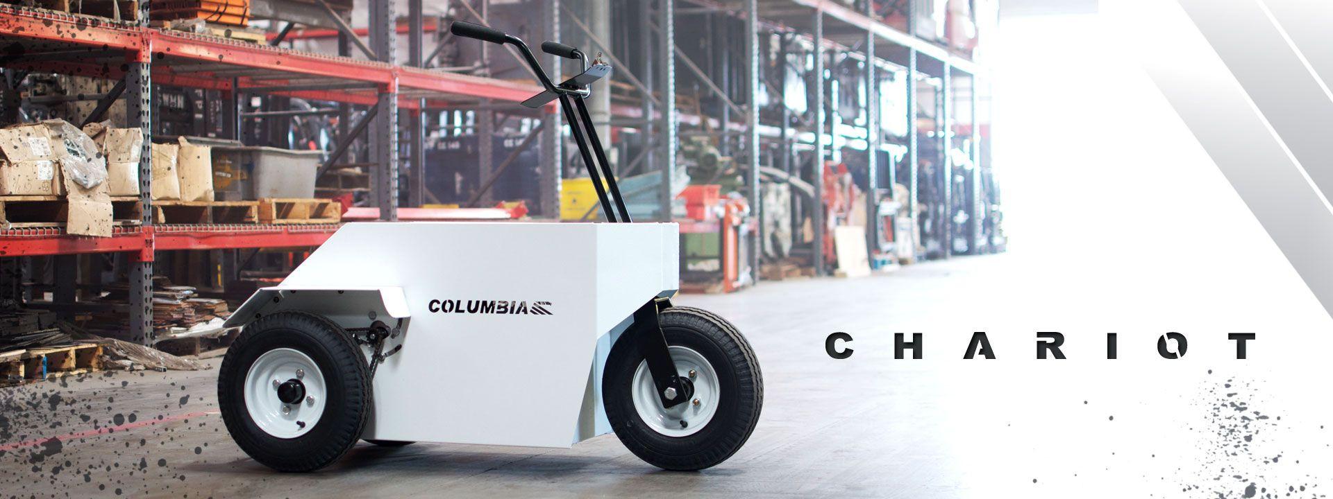 White Columbia Chariot
