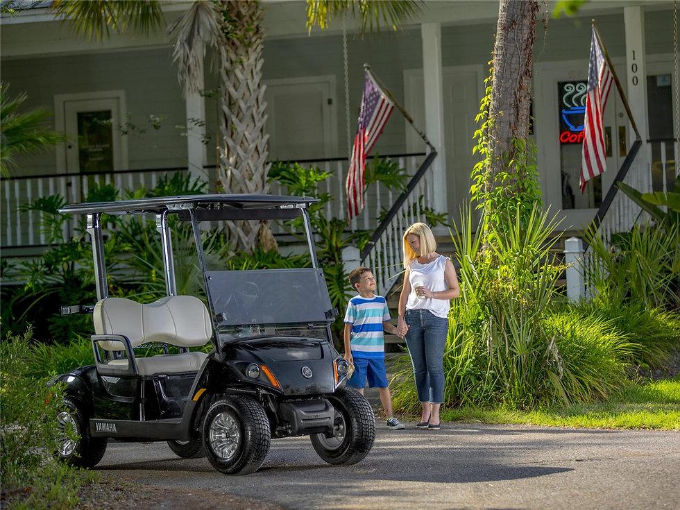 Black yamaha golf cart
