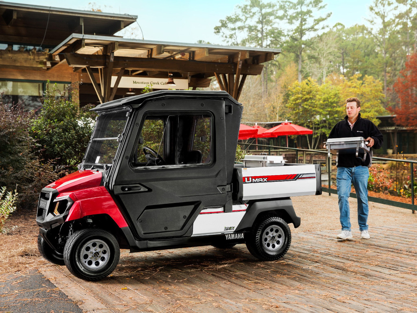Red Yamaha UMAX Two