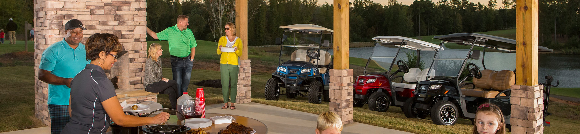 Club Car Golf Cart Cook Out