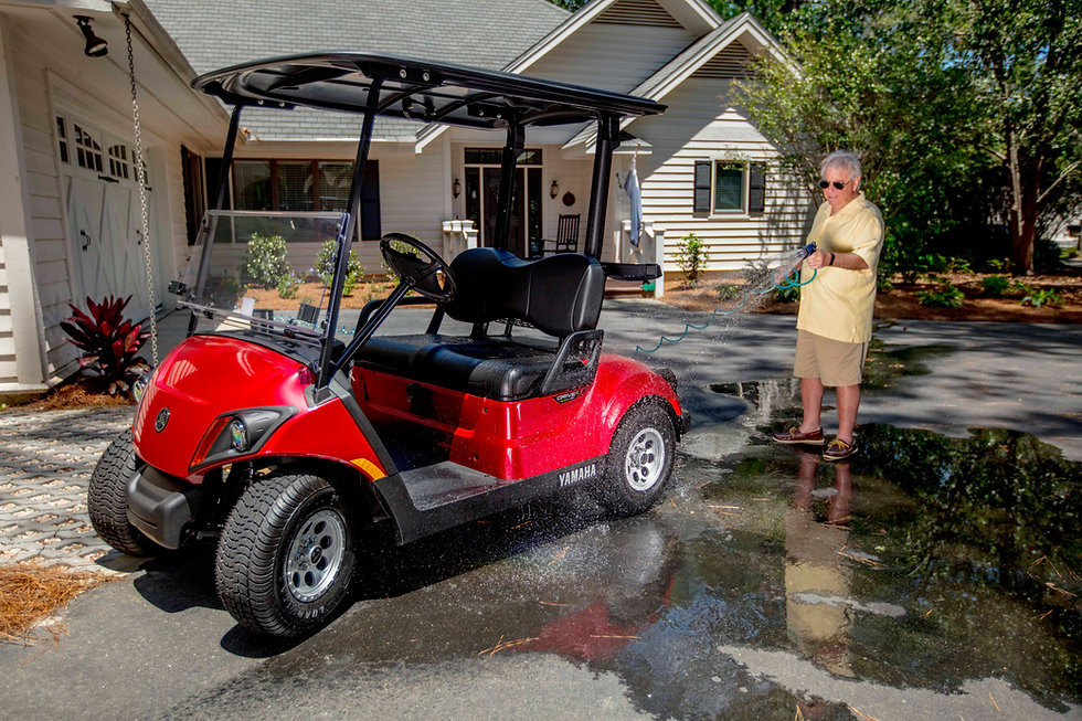 red yamaha golf car