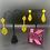Thumbnail: Jim Ball Medium Crystal Earrings - Lemon