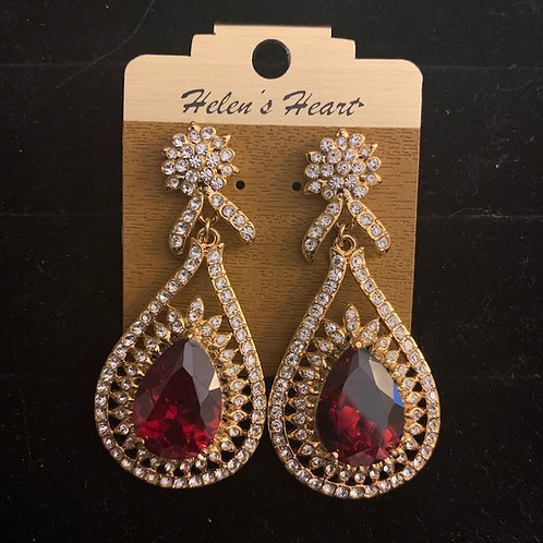 Helen's Heart Gold Topez Earrings