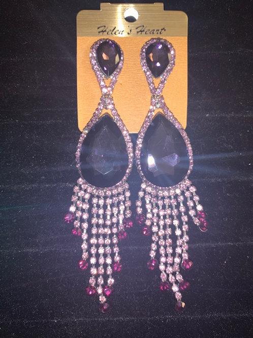 Helen's Heart Purple Earrings
