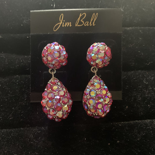 Jim Ball Small Crystal Earrings
