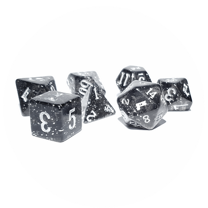 Collector's Edition Carbon 2185 Polyhedral Dice