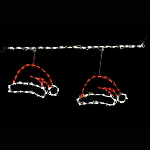 RED / WHITE Santa Hat Linkables Kit of 6